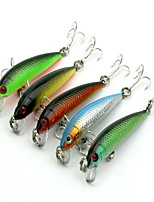 1 pcs kleiner Fisch kleiner Fisch Schwarz / Grün / Gelb / Rot / Blau 3.6 g Unze mm Zoll,Fester Kunststoff Köderwerfen