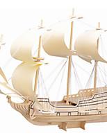Пазлы Деревянные пазлы Строительные блоки DIY игрушки Корабль 1 Дерево Со стразами