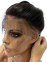 360 frontal Droit (Straight) Cheveux humains Fermeture Brun roux Dentelle Française 75g-95g gramme Moyenne Cap Taille