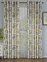 One Panel Curtain Designer , Curve Living Room Polyester Material Curtains Drapes Home Decoration For Window