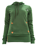 Women's Casual/Daily Simple / Active Regular Hoodies,Embroidered Blue / Pink / Black / Gray / Green Hooded Long Sleeve CottonFall /