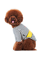 Dog Shirt / T-Shirt Sweatshirt Black Dog Clothes Winter Spring/Fall Stripe Casual/Daily
