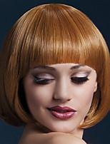 femmes bob lumière perruque brune perruques droites courtes pour les femmes chaleur perruques synthétiques résistantes