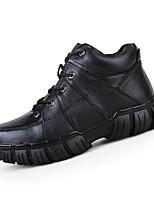 Черный Коричневый-Мужской-Для занятий спортом-Кожа-На плоской подошве-Удобная обувь-Кеды