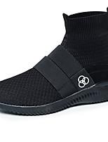 Femme-Décontracté-Noir Bleu Gris-Talon Plat-Confort-Baskets-Tissu
