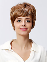 Short Wavy Style Brown Color Synthetic Wigs for Women