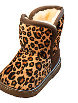 Girl's Boots Fall Winter Comfort Snow Boots Fabric Casual Dress Flat Heel Others Leopard Walking