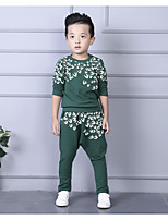 Boy's Casual/Daily Print Tee / Clothing Set Spring / Fall Black / Green