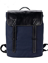 Men Canvas Casual Backpack Blue
