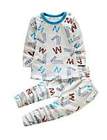 Ensemble de Vêtements Boy Géométrique Décontracté / Quotidien Coton Hiver Blanc