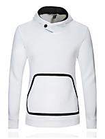 Normal Hoodies Hommes Décontracté / Quotidien simple,Couleur Pleine / Mosaïque Rouge / Blanc / Noir Capuche Manches Longues Coton