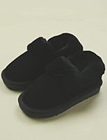Girl's Boots Winter Comfort Fleece Casual Flat Heel Black Pink Beige