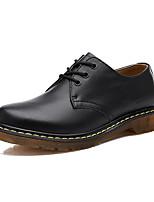 נשים-נעלי אוקספורד-עור-נוחות-שחור / חום / אדום-קז'ואל-עקב שטוח