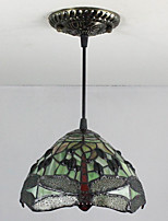 25W Pendant Light ,  Tiffany / Vintage Painting Feature for Mini Style Metal Bedroom / Entry