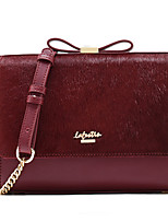 LaFestin Women Cowhide Shoulder Bag Red / Black / Burgundy-608362