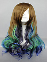 High Quality Cosplay Wig Synthetic 68cm Long Wave Colorful Anime Lolita Wig