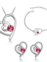 Thousands of colors  Jewelry Necklaces / Earrings / Bracelets & Bangles Jewelry set Crystal 1set Women -4330