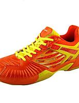 unisexe chaussures de course d'athlétisme tombent en cuir de confort athlétique talon plat lacets orange, badminton