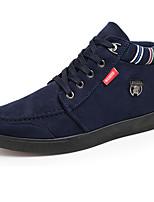 Черный / Синий-Мужской-На каждый день-Дерматин-На плоской подошве-Удобная обувь-Кеды