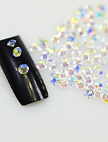 120PCS Clear Nail Rhinestones Nails Art Glitter Crystals Decorations Tools DIY Non HotFix Rhinestone Decor Glass Stones SS8 AB Series