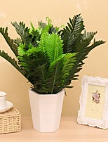 18 Heads/Bouquet Silk Sago Cycas Fake Plant Household Decorations Plant Wall