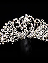 Bride's Swan Rhinestone Wedding Hair Accessories Tiaras Hair Combs 1 Pieces