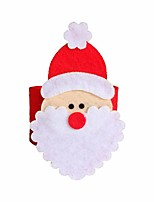 4 peças de Natal de Santa tabela titulares de guardanapo anel Noel guardanapo xmas decoração do restaurante