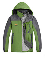 Men's Padded Coat,Active Plus Size / Casual/Daily Solid-Polyester Polyester Long Sleeve Hooded Red / Green