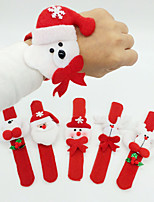 12PCS Christmas Decoration Christmas Ring Pops Christmas Cloth Pat Circle Christmas Party Bracelet(Style Random)