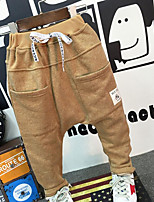 Boy's Casual/Daily Solid PantsCotton Spring / Fall Brown