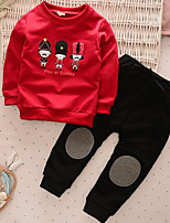 Boy's Casual/Daily Print Clothing SetCotton Spring / Fall Red / Gray