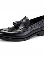 Men's Loafers & Slip-Ons Spring / Fall / Winter Styles Leather Career / Party & Evening / Casual Flat Heel Slip-on