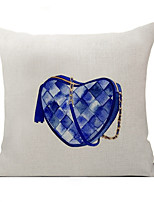 Polyester Decorative Cushion Pillow Cover Blue Bag Sofa Home Decor 45x45cm