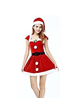 Christmas Costume/Holiday Halloween Costumes Red Solid Skirt / Belt / Hats Christmas Female