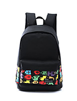 Unisex Canvas Casual / Outdoor School Bag Black