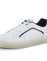 Herren-Flache Schuhe-Outddor / Sportlich-Gummi / PU-Flacher Absatz-Others-Schwarz / Rot / Weiß
