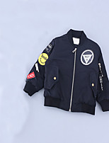 Boy's Casual/Daily Embroidered Jacket & CoatCotton Winter / Spring / Fall Black / Green