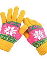laine ms hiver à tricoter des gants chauds (de jaune)
