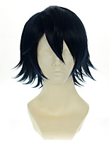 K Saruhiko Fushimi Dark Blue Black Versatile Turned Alice Halloween Wigs Synthetic Wigs Costume Wigs