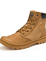 Men's Boots Spring Summer Fall Winter Comfort Canvas Office & Career Casual Party & Evening Black Yellow