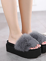 Women's Slippers & Flip-Flops Others Rubber Casual Black / Gray