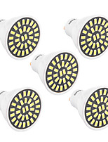 YWXLight 5Pcs High Bright 7W GU10 LED Spotlight 32 SMD 5733 500-700 lm Warm White / Cool White AC 110V/ AC 220V