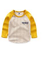 Tee-shirts Boy Rayé Décontracté / Quotidien Coton Printemps / Automne Noir / Jaune