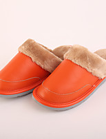 M.livelihood.H Women's Slippers & Flip-Flops Winter Slingback Cowhide Casual Flat Heel Others Orange Others-LB2016025