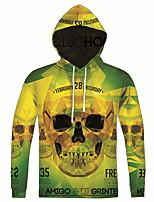 New Fashion Casual Green Skull Print Men 3d Hoodie Long Sleeve Men Hooded Pullover Sweatshirts