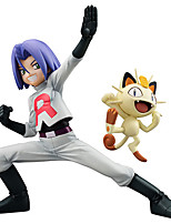 Pocket Monster Team Rocket James And Meowth PVC 13cm Anime Action Figures Model Toys Doll Toy