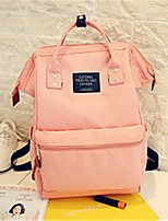 Women Canvas Casual Backpack Pink