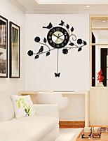 Модерн Домики Настенные часы,Прочее Алюмин / Металл 60*58cm В помещении Часы