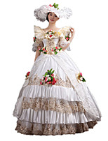 Steampunk@Women's Rococo Ball Gown Gothic Victorian Dress Costume with Flowers