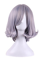 Smoke Grey Hightlight Fashion Hairstyle Trendy Synthetic Wigs Anime Cosplay Party Women Hair Heat Resistance Wig